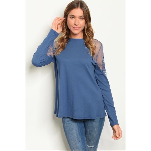 Tops - 🆕 Indigo Lace Tunic